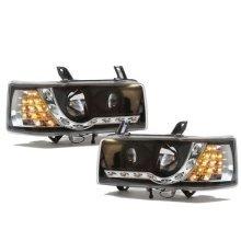 Volkswagen Transporter T4 Short Nose  Inc.caravelle 1990-2003 Black Drl Headlights Pair