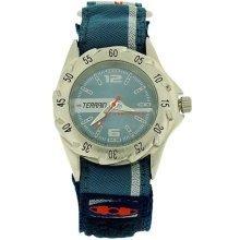 Terrain Sharkfin Blue Dial Velcro Strap Gents Sports Analogue Watch TV-1330G