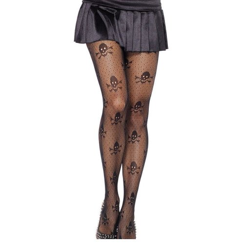 2017 New Net Skull Stretch Pantyhose LC79512 Sexy Stockings Tights Women Tights Winter