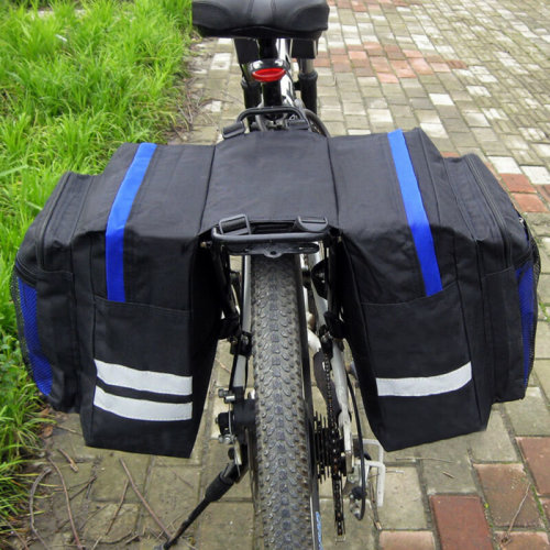 Bike Bicycle Rear Rack Seat Trunk Saddle Tail Storage Panniers Pouch Bags