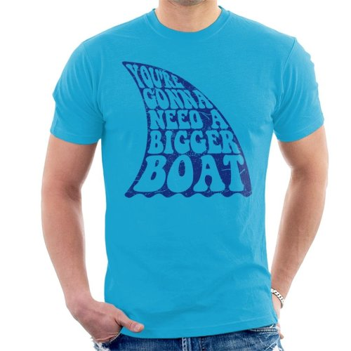 Jaws Inspired Bigger Boat Quote Men's T-Shirt