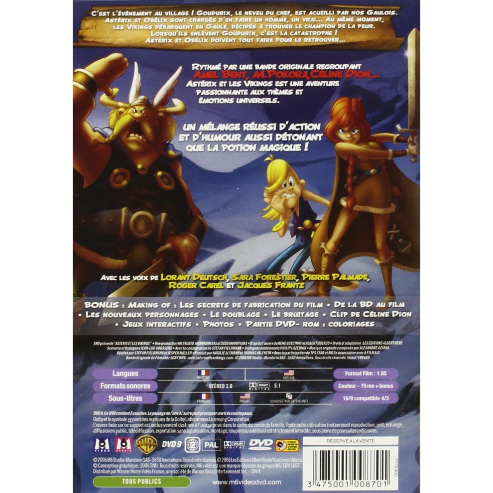 Set De Coloriage Asterix U.Asterix Et Les Vikings Livret On Onbuy