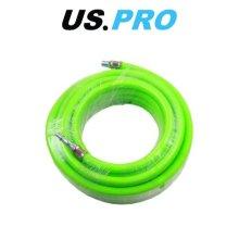 US PRO 8mm X 10 Meters HI Vis Green Hybrid Quick Release Air Hose 8174