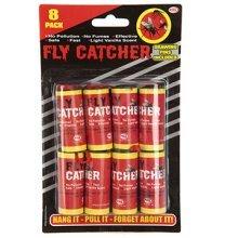 6pc Fly Catcher Pack On Blister Card - Sticky Catchers 6 Paper Set Indoor -  fly pack sticky catchers 6 paper set indoor greenhouse 8 insect insects