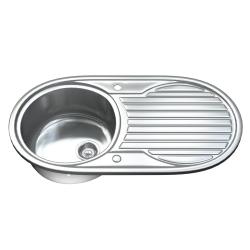 1061 1.0 Single Bowl Stainless Steel Kitchen Sink, Drainer & Waste