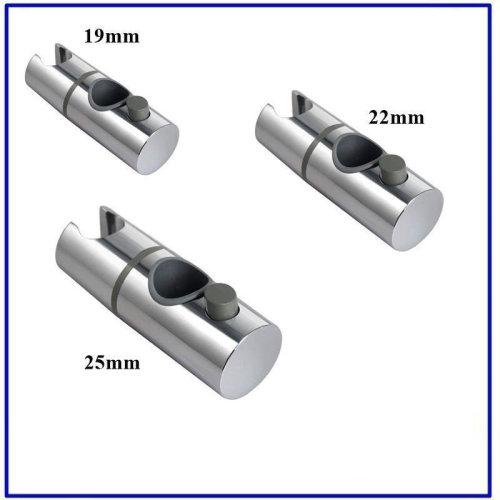 Chrome Shower Slider 19mm, 22mm, 25mm, Shower Head Holder