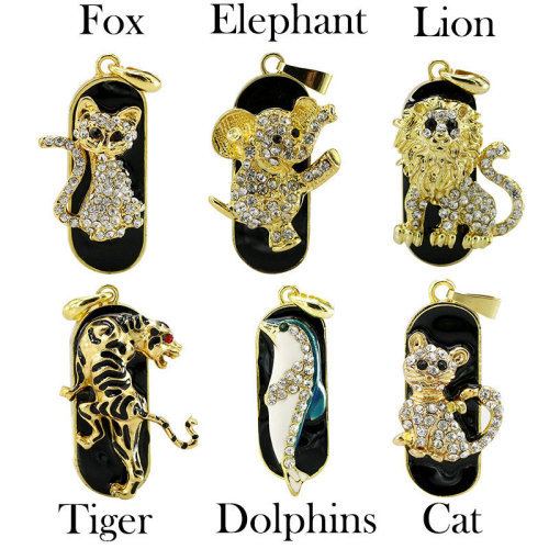Cute Diamante Animals Novelty USB Flash Drive Memory Stick Necklace Pendant