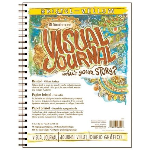 Strathmore ST460-29 9 in. x 12 in. Vellum Visual Journal Wire Bound Bristol Book - 48 Pages Pack Of 6