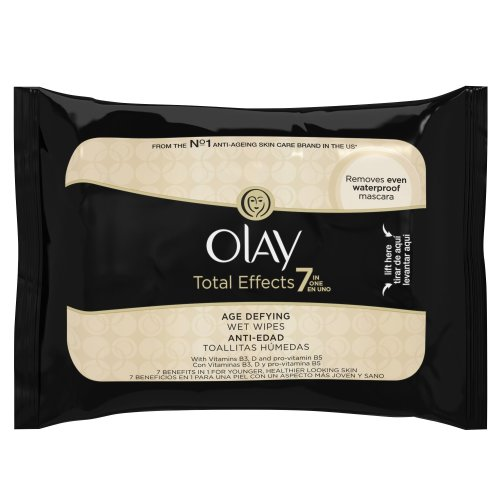 Olay 7-in-1 Total Effects Age-Defying Wet, 20 Wipes