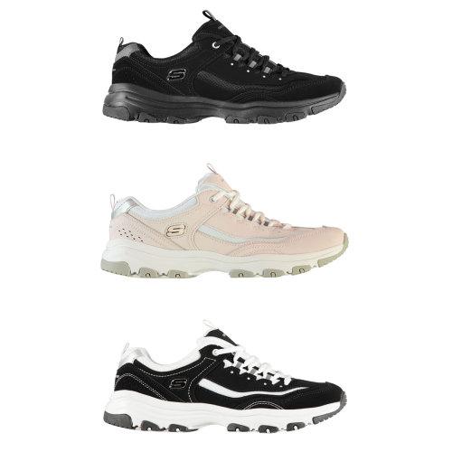 Skechers Icon Dlite Womens Trainers Shoes Ladies Running Sneakers Footwear