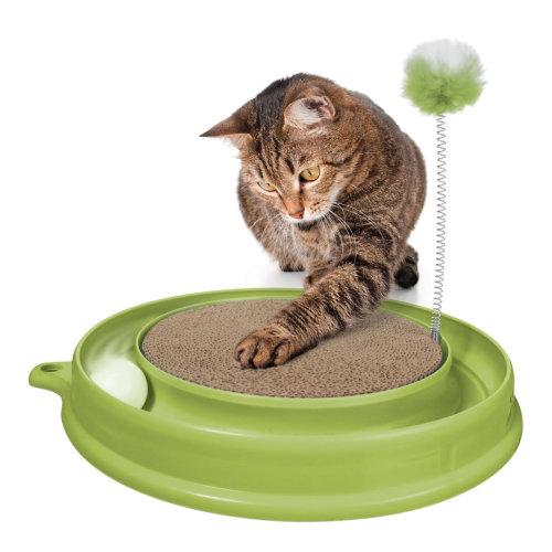 Catit Play N Scratch Toy Green