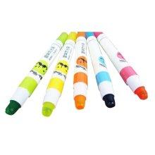 Set Of 5 Cartoon Highlighter Color Marking Crayons Dauber Random Color