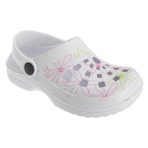 Childrens Girls Floral Summer Clog Sandals