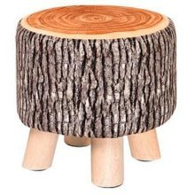 Creative Wood Fabric for Shoe Stool Household Stool Round stool Children Adults Apply, Tree