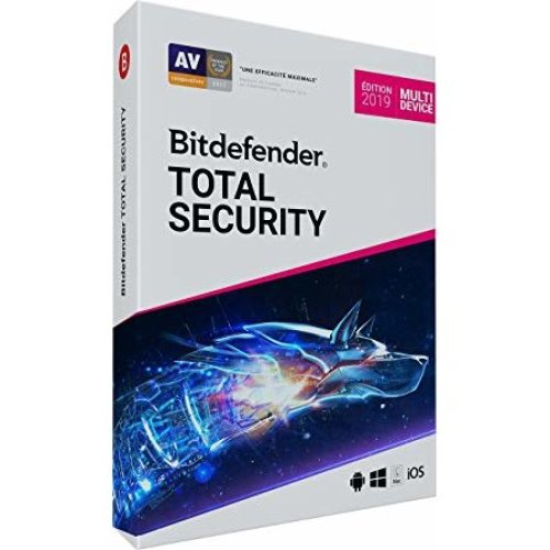Bitdefender Total Security Multi-Device 2019 Edition - 1 Year Digital License