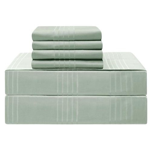 Jean Pierre YMS008235 Premium 420 Thread Count 100 Percent Cotton Sheet Set, Aqua - Queen - 6 Piece