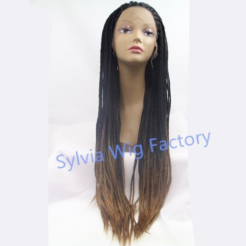 Hot Sales African American Premium Ombre Synthetic Braid Wigs