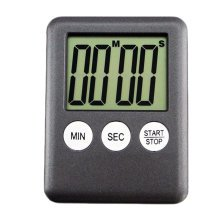 Functional Electronic Digital Timer Kitchen Timer, Black