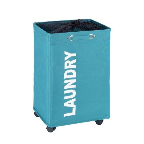 "Wenko ""Quadro Laundry Bin, Petrol Blue"