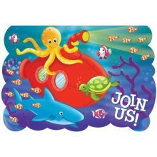 Deep Sea Fun Folded Invitations    - /8