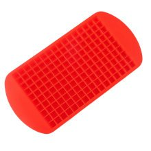 Large/Safe And Soft Silicon Ice Cube Tray, Red