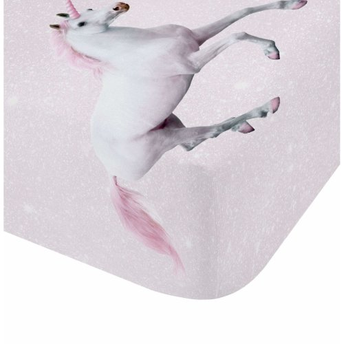 Catherine Lansfield Enchanted Unicorn Easy Care King Fitted Sheet Pink