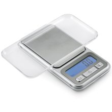 Polder Digital Pocket Purse Scale LCD Food Jewelery Travel Weighing Scale Silver