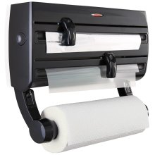 Leifheit Wall-mounted Roll Holder Parat F2 Black 25777