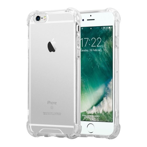 For iPhone 6 Plus / 6s Plus Crystal Clear Transparent Silicone Case