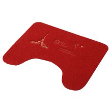 Toilet Mat Carpet U Room Bath Antiskid Mat Toilet Mat At The Door Red
