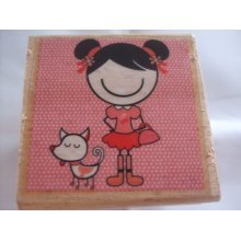 Dovecraft Smirk Stamp - Girl & Dog - SMRS01