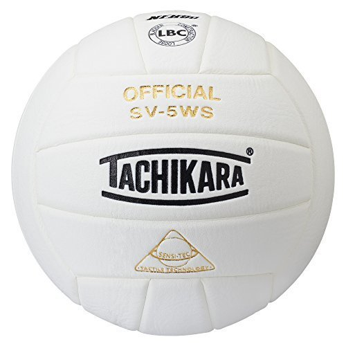 Tachikara NFHS Approved Sensi-Tec Composite High Performance Volleyball (White)