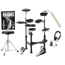 Roland TD-4KP V-Drums Portable Electronic Kit INC Stool Pedal Sticks Headphones And FREE Backbone Tutorial Book & CD Worth £15.99