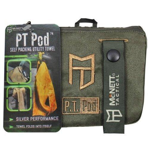 McNett Tactical PT POD Microfiber Utility Towel Olive Drab Green