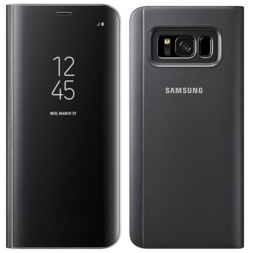 Genuine Offical Samsung Clear View Standing Case Cover for Samsung Galaxy S8 - Black