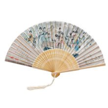 Oriental Vintage Style Folding Fan Hand Fan Foldable Handheld Fan Summer Perfect Gift, L