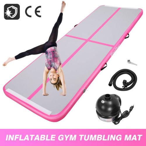 3x1m Air Track Tumbling Gymnastic Mat Floor Home Training Mat W/Pump