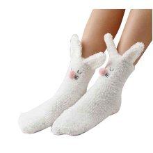 Cute Fuzzy Socks Slipper Socks Non-slip Comfortable [C]