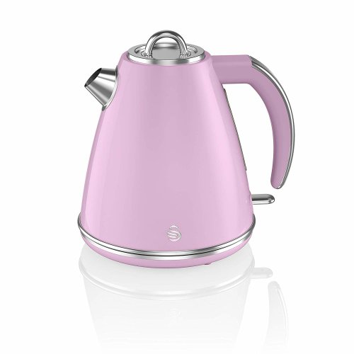 Swan Retro PINK 3kW, 1.5L JUG Kettle, 360 Degree Base, Fast Boil