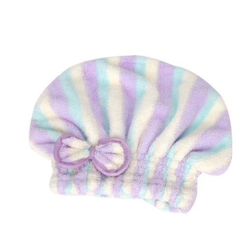 Stripe Hair Drying Towels/Shower Caps Microfiber Hair Towel Wipe Hair Cap