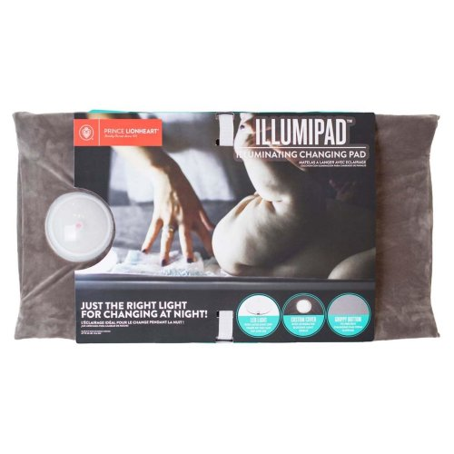 Prince Lionheart Illumipad Changing Pad + Cover - Cream