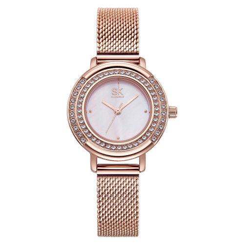 efcedb67a SK K0076 Full Steel Crystal Women Wrist Watch Shining Casual Style Quartz  Watches on OnBuy