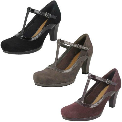 Ladies Clarks Court Heel Shoes Chorus Pitch - D Fit