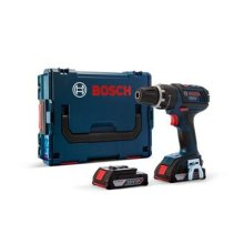 Bosch Professional GSB L-Boxx 18 V-LI Cordless Combi Drill with Two 18 V 2.0 Ah Lithium-Ion Batteries