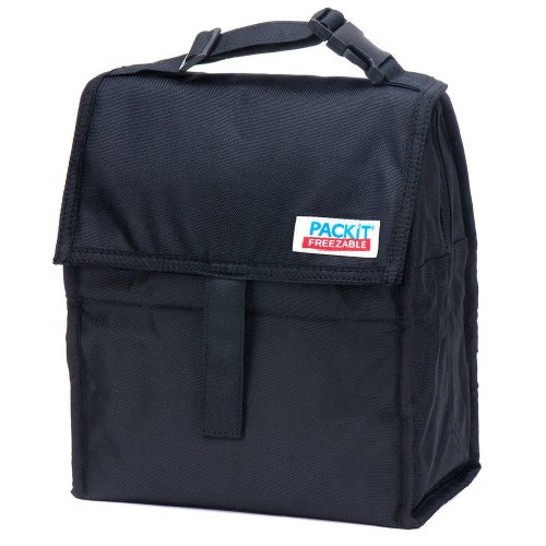 (black) PackIt Kids' Freezable Lunch Bag   Personal Cooler for Kids