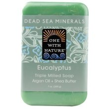 One With Nature Dead Sea Minerals Bar Soap Eucalyptus -- 7 oz