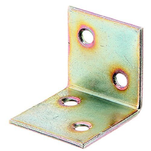 Wide-Angle Bracket Unequal Yellow-Galvanised Bulk Pack 30 x 30 x 30 mm / 25 Stk.