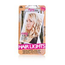 Brown 4 Pack Of Hair Lights -  npw stripey strips 4pcs easy clip hair lights