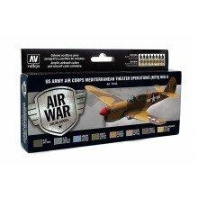 Val71183 - Av Vallejo Model Air Set - Us Air Corps Mto Wwii (x8)