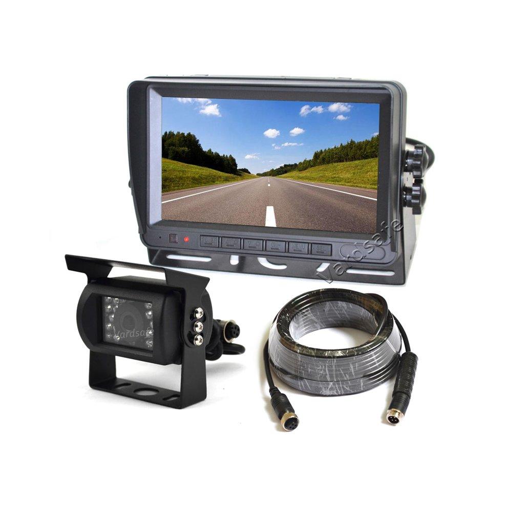 Vardsafe Rear View Reverse Backup Camera + 7 Inch TFT LCD Monitor For RV Motorhome Tractor Trailer Truck Bus Van